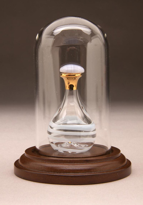 """Glass Mini Dome 1 7/8"""" D x 3 1/2"""" H - Large - Shown with Optional Baby Blue Tear Bottle - Sold Separately"""