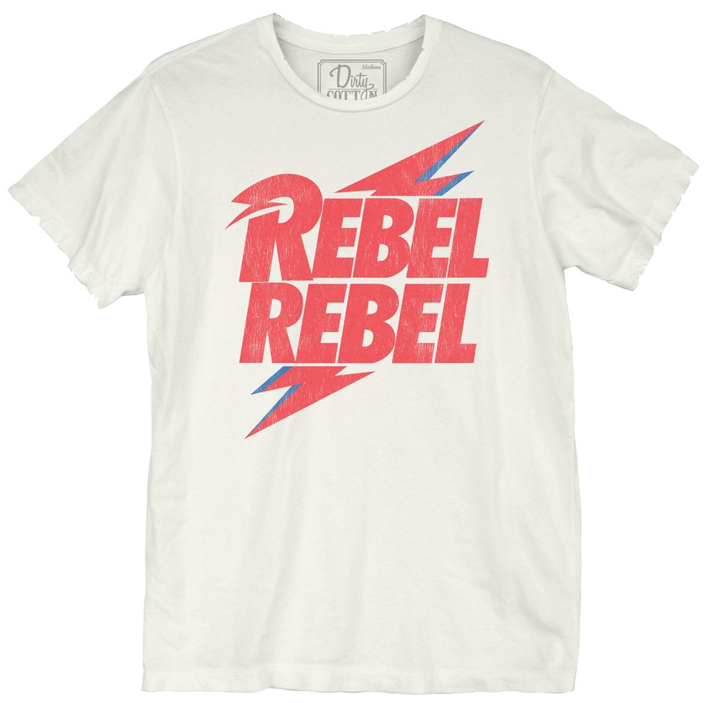 David Bowie Rebel Bolt Enzyme Wash Unisex Tee