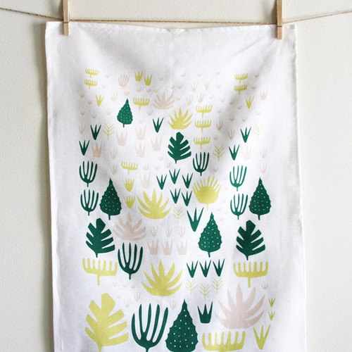 Agave Shapes Tea Towel