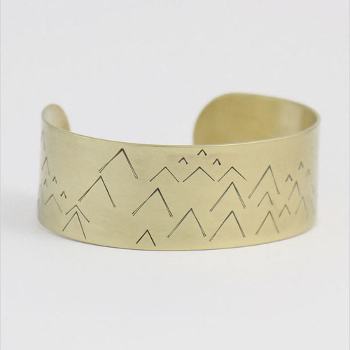 Little Mountain Brass Cuff