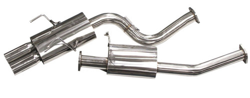 ISR Performance MB SE Type -E Dual Tip Exhaust Nissan 240sx 89-94 S13
