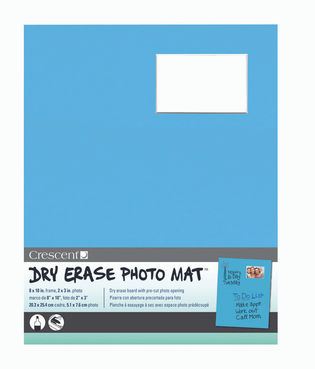 Crescent - Art Products - Dry Erase Photo Mat - 8\