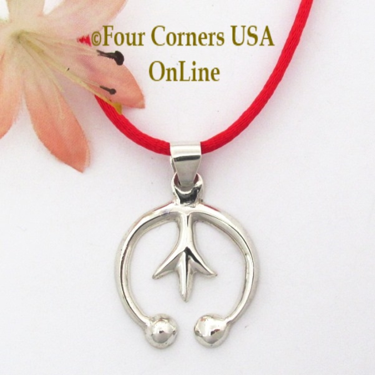 Silver naja necklace isabelle kee four corners usa online petite silver naja pendant 24 inch neckcord navajo artisan isabelle kee nap 1691 four corners aloadofball Images