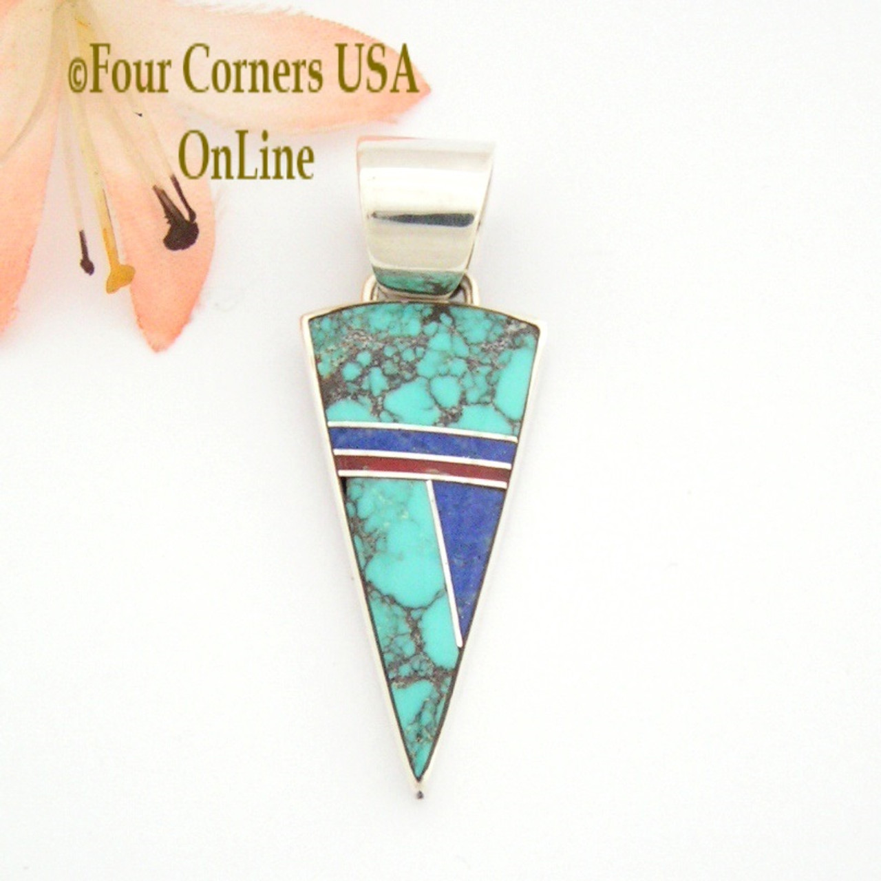 necklace mother gaspeite or pearl pendant american inlay products native of
