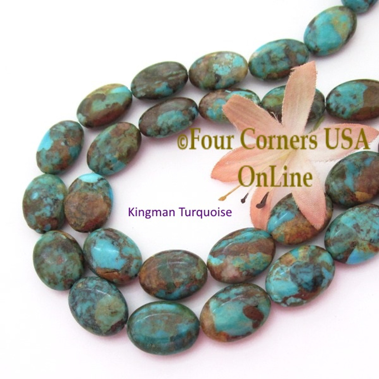 kingman tq beads online inch pin strands blue teal turquoise usa rondelle