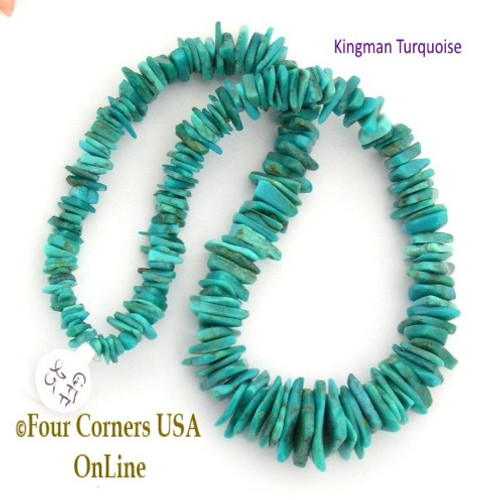turquoise beads online old tq round pin usa kingman blue inch strands