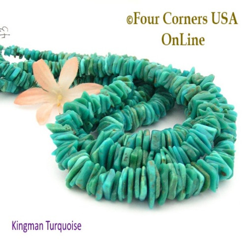 kingman jewelry four strand pin inch usa beads freeform corners designer online making slice graduated turquoise