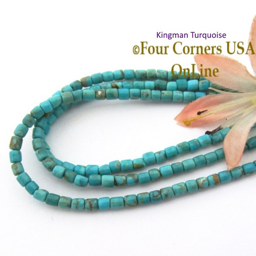 round tq strands four blue green beads inch kingman supplies turquoise jewelry corners online usa mix american