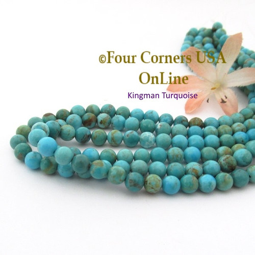 online usa rounded turquoise kng beads jewelry four heishi strand corners supplies inch bead graduated kingman to american