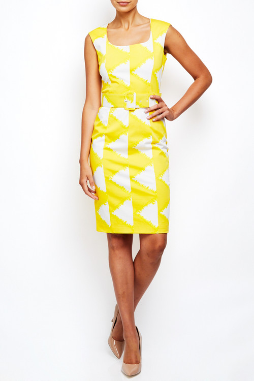 Maya Dress in Solomon Yellow