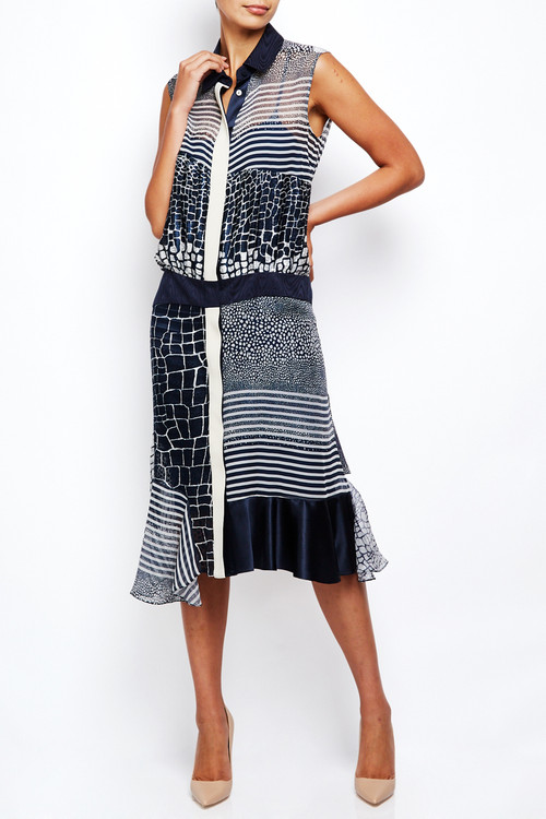 Preen Sleeveless Stingray Jacquard Dress
