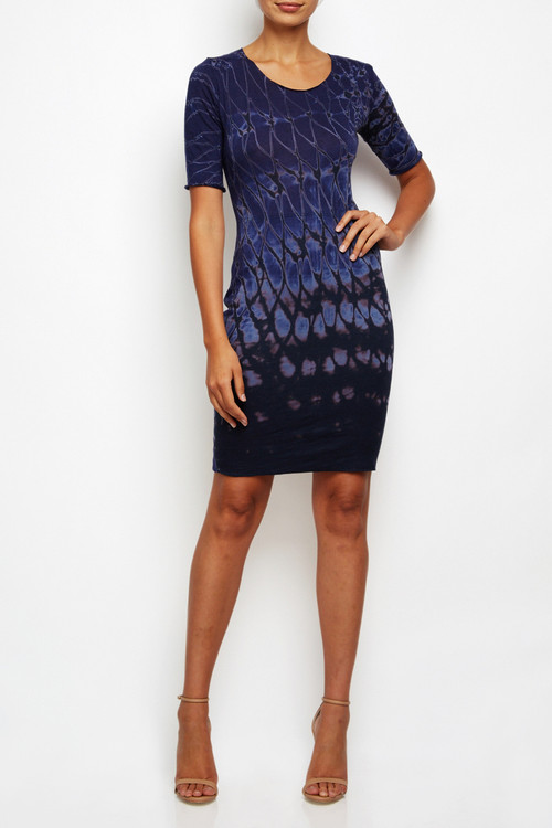 Racquel Allegra Fitted Tshirt Dress Indigo