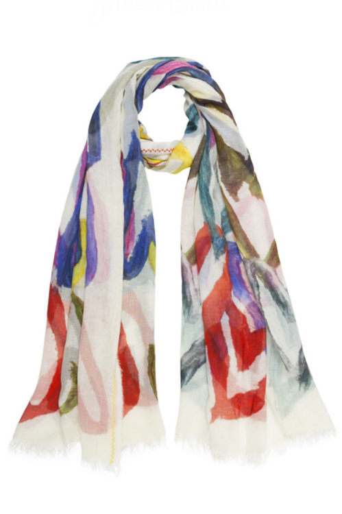 Painted Hearts Silk Modal Scarf