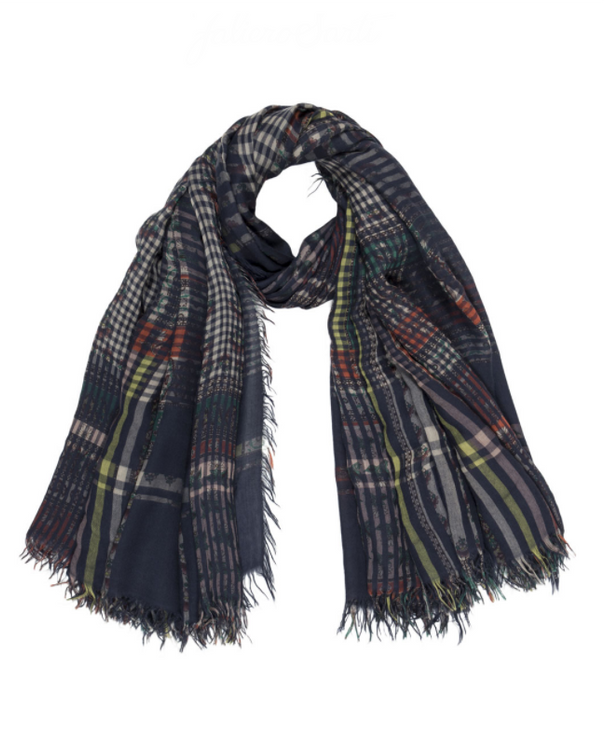 Deep Plaid Scarf