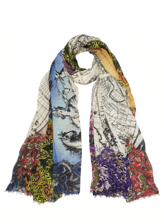 Renaissance World Map Scarf