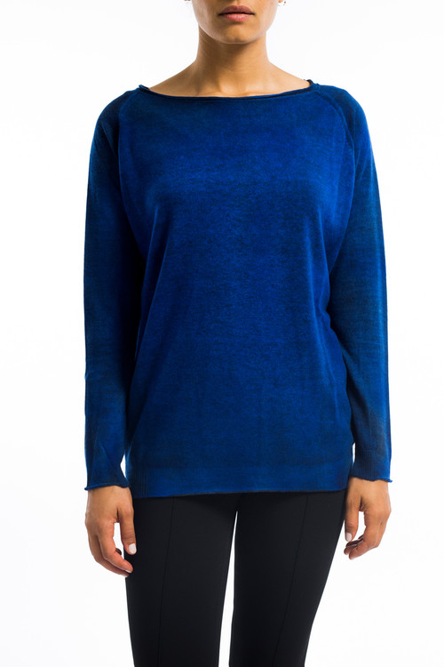 Cashmere Raglan Sweater China Blue