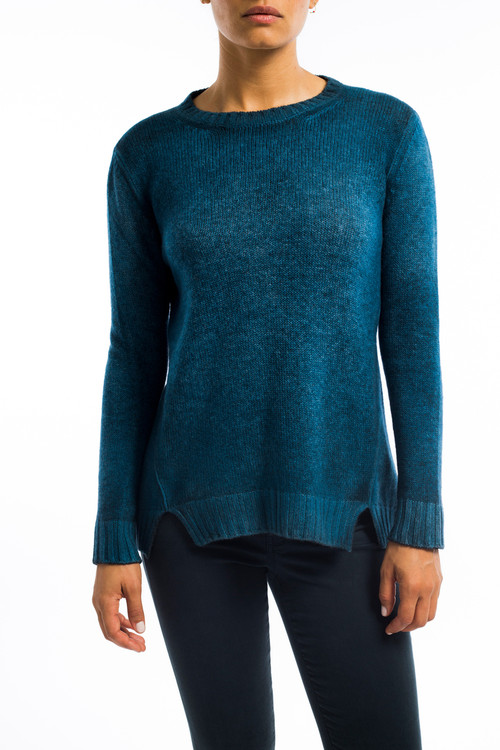 Easy Cashmere Sweater Split Vent Sky