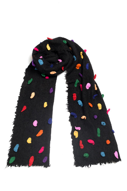 Textured Polka Dot Scarf