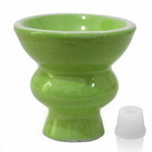 Green Hookah Ceramic Bowl