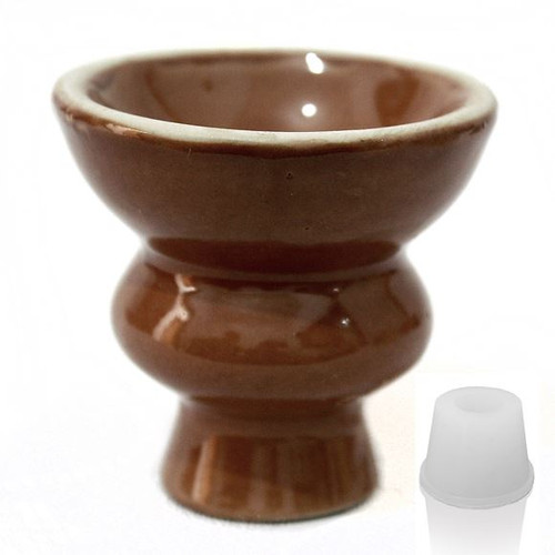 Brown Hookah Ceramic Bowl