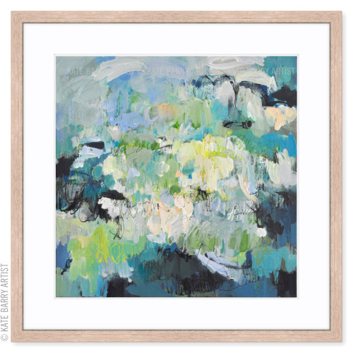 Submersion limited edition art print | Natural | Kate Barry Artist cool greens, water tones