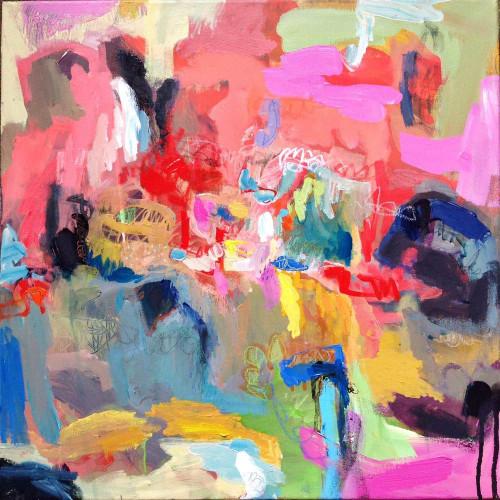 Kate Barry Artist | Eventide | 54 cm x 54 cm | Acrylic on canvas