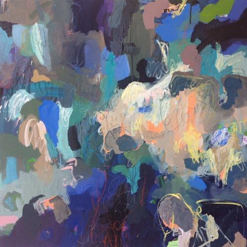 Kate Barry Artist   Greystones   100 cm x 100 cm   Acrylic on canvas