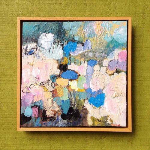 Kate Barry Artist | Fleece | 28 cm x 28 cm | Acrylic on canvas