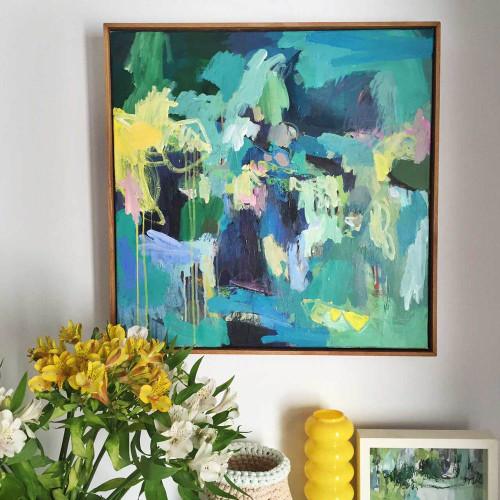 Kate Barry Artist   Plunge    64 cm x  64 cm   Acrylic on canvas