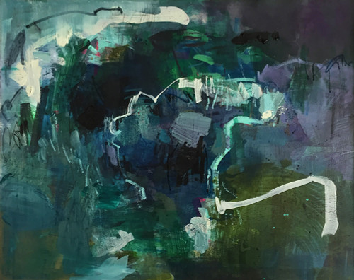 Twisting River | 44 cm x 54 cm | Framed | Oil, acrylic and pastel on board
