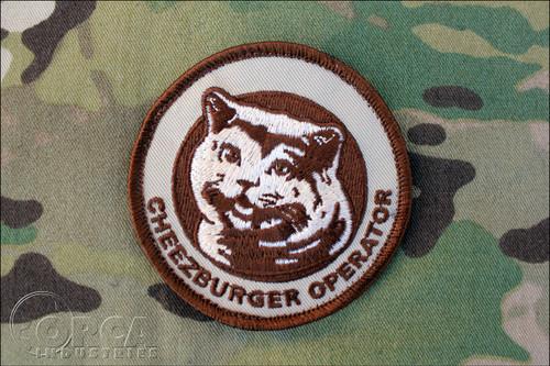 Cheezburger Operator Patch - Desert