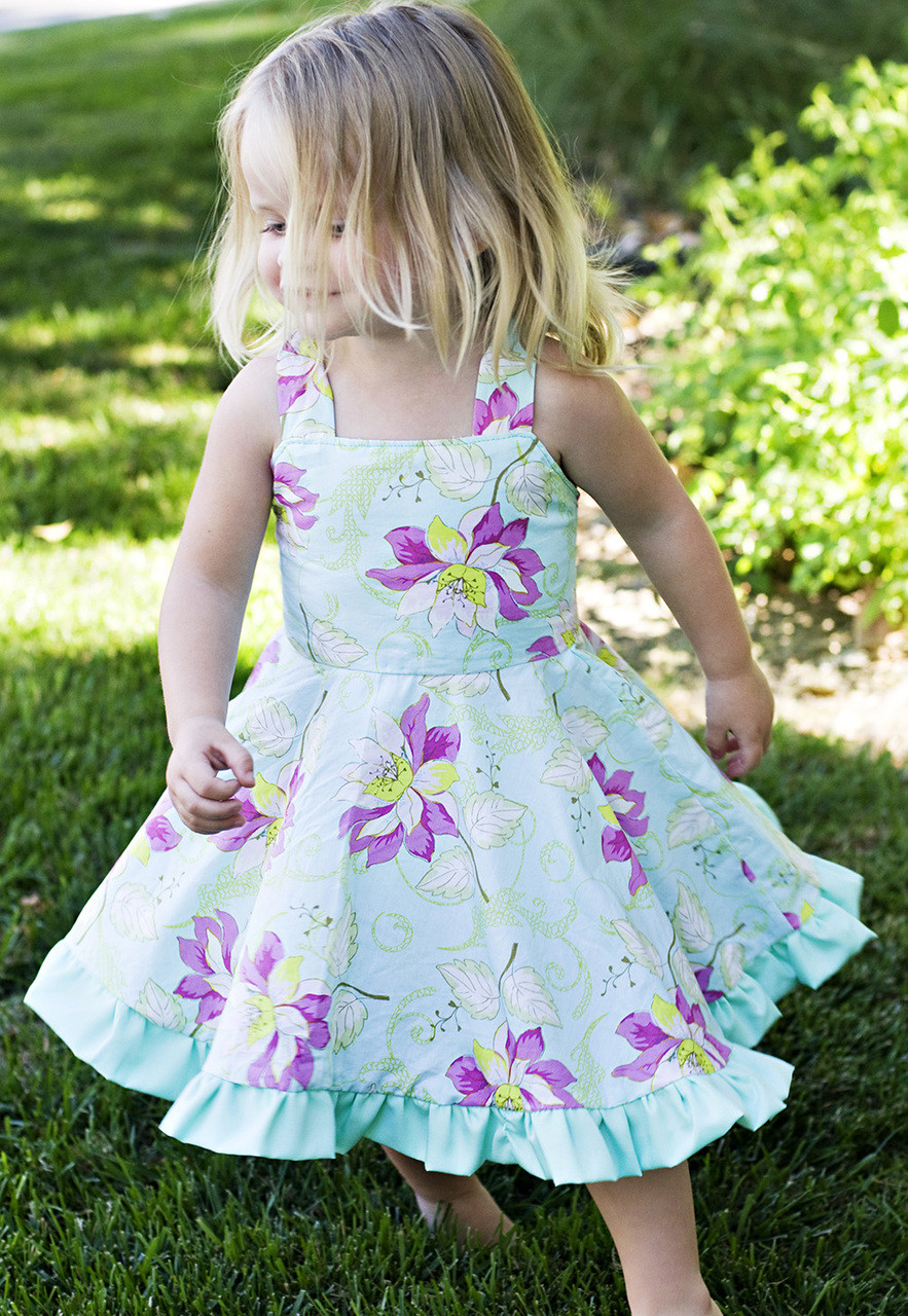 Twirly Dress Pdf Sewing Pattern Amp Tutorial Sew Sweet