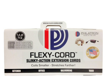 Flexy® Coiled Extension Cord Multi-Pak