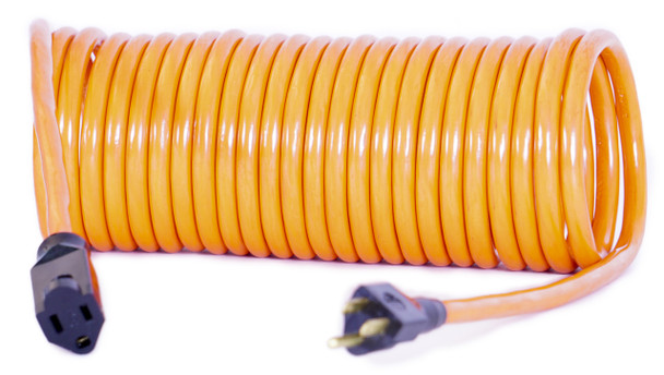 12 AWG Coiled Extension Cord