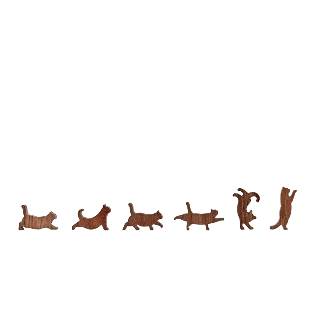 Wooden Cat Stacking Game