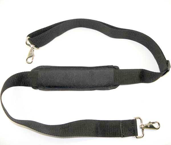 Padded adjustable shoulder strap.