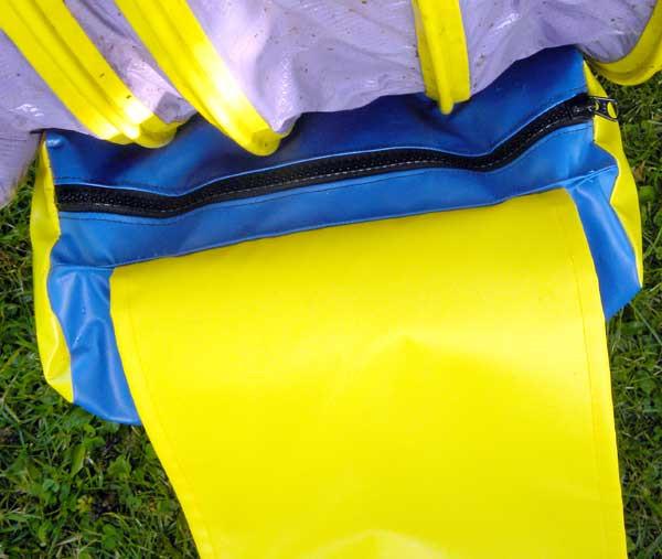 Custom YKK lubricated zipper is UV coated.