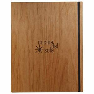 Alder Wood Menu Boards with Vertical Band