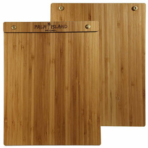Bamboo Wood Menu Boards with Screws