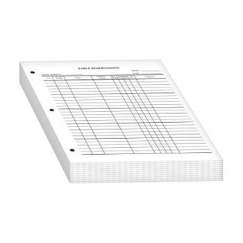 Reservation Sheets