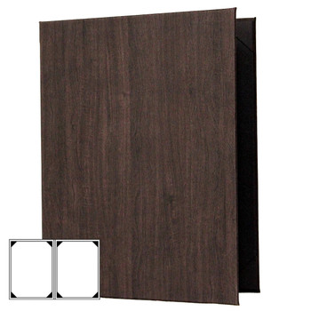 Wood Look Menu Cover Two View