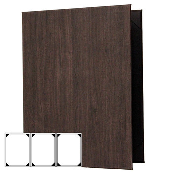 Wood Look Menu Cover Three View