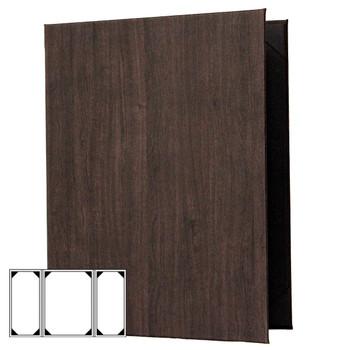 Wood Look Menu Cover Three View Gatefold