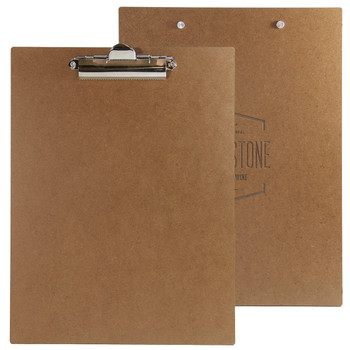 Premium Hardboard with Clip Front and Back Views