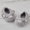 Crochet Booties, Mouse