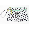 Waterproof Wristlet Clutch, Black & White