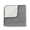 Black and White Stripe Muslin Quilt