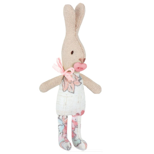 Micro Baby Bunny with Pacifier, Floral