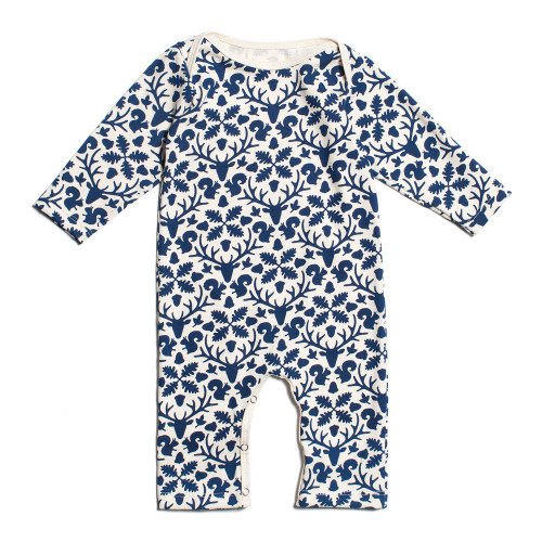 Organic Cotton LS Romper, Animal Kingdom