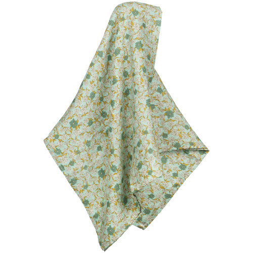 Teal Floral Bamboo Swaddle